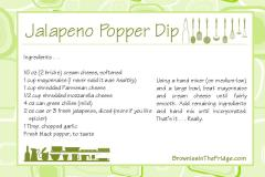 Jalapeno Popper Dip Recipe Card