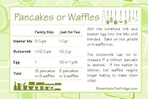 Master Mix Pancake Recipe Card 6x4