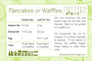Master Mix Pancake Recipe Card 6x4
