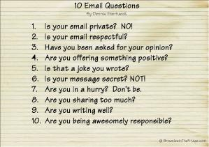 10 Email Questions